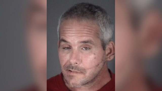 The man who hit his girlfriend with a burrito was arrested.