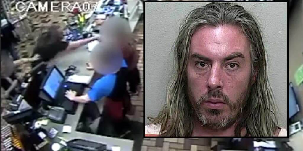 A Florida man attacked the gas station worker with a hot dog