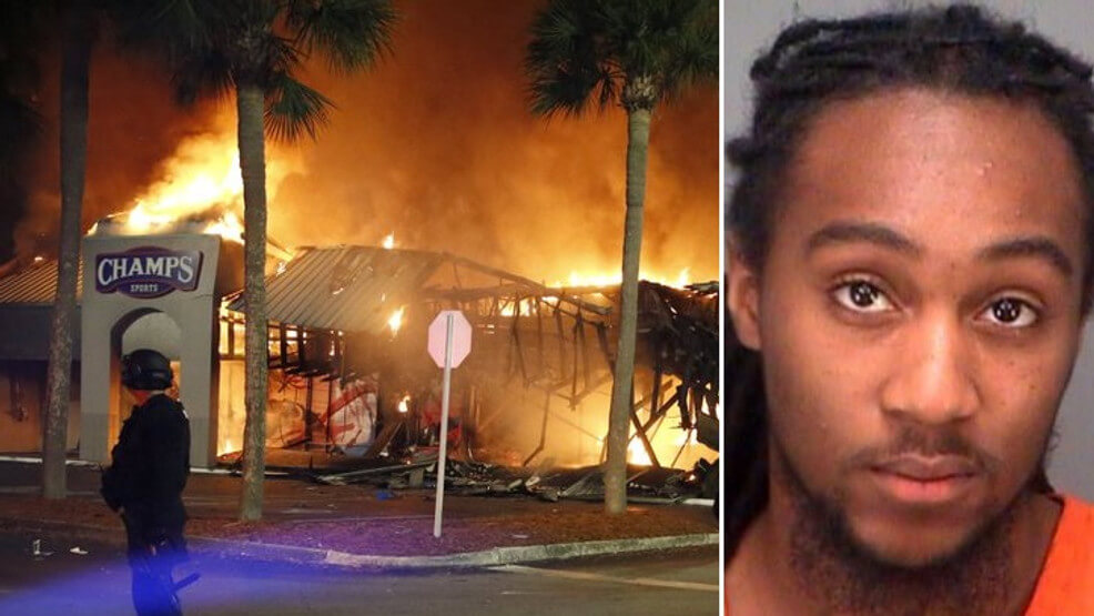 A man from Florida was accused of setting the warehouse on fire