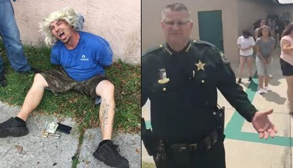 A Florida man hoped he could escape the sheriff's deputies with the blonde wig