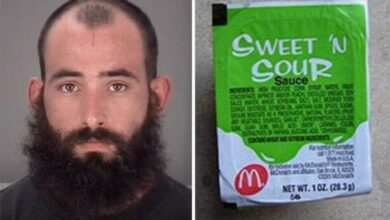 A Florida man was arrested for throwing McDonald's sauce at his girlfriend