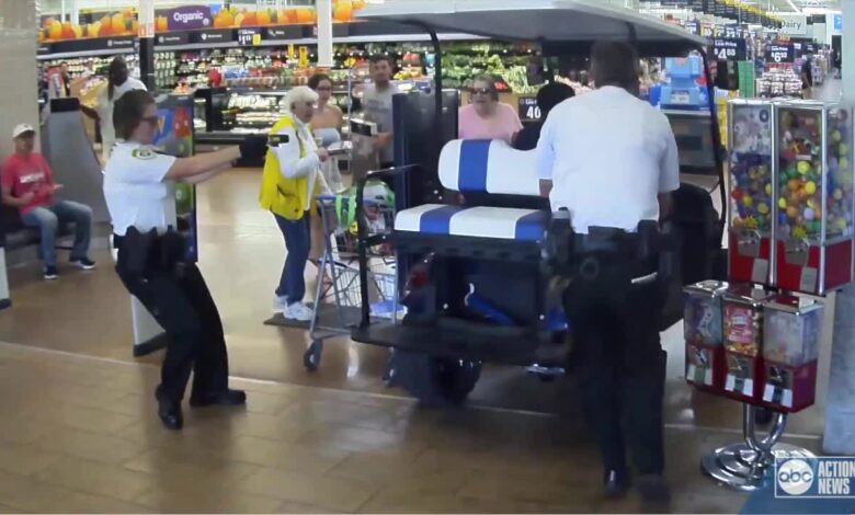A Florida man drove his golf cart to Walmart and tried to run over people in the store, even though he didn't know why