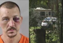 A Florida man killed his girlfriend and buried her next to his caravan but was arrested after being tipped off