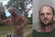 """A Florida man dressed only in underwear hit the deputy sheriff in the face with a Bible and screamed """"I condemn you"""""""